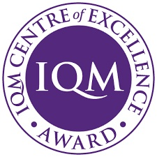 IQM Centre of Excellence award logo