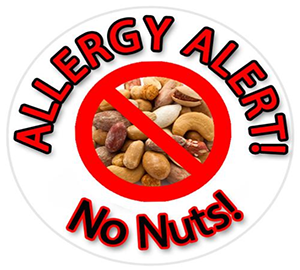 Allergy alert - no nuts logo